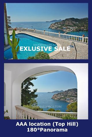 Villa über der Hafeneinfahrt A-A-A Lage mit unverbaubarem Panorma-Master-Blick!!!