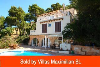 Villa mit Gästewohnung Pool und breitem Meerblick