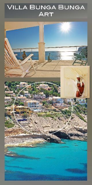 Villa BUNGA BUNGA Art. Luxus Villa Port Andratx Mallorca. Meerzugang & lustvolle Spa & Wellness