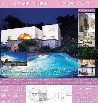 VERKAUFT!!!  Villa the cube im Zentrum von Puerto Andratx