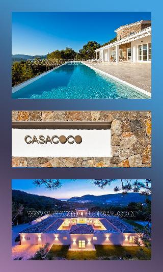 Casa Coco Puerto Andratx Mallorca Moderne & Puristische Villa mit 83.000 m²  Grundbesitz!!!!
