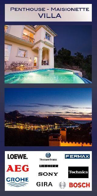 Mallorca: Penthouse Maisonette Villa zu verkaufen Puerto Andratx Can Borras nahe zum Hotel Monport