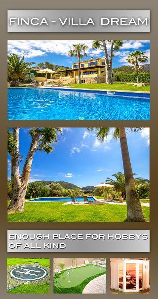 Sarraco-Andratx Finca -Villa Dream zu verkaufen: Sonnige Finca Villa grosser Garten & Pool