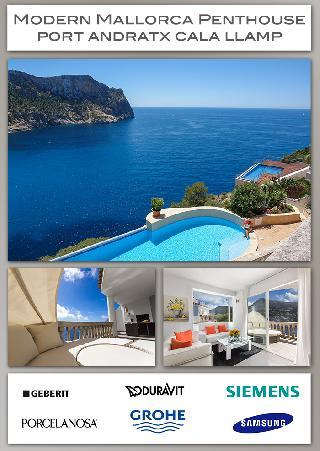 Bacchus Mallorca Penthaus-Terrassen-Wohnung 1. Meerlinie Puerto Andratx Cala Llamp