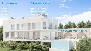 Villa zur Modernisierung und Erweiterung bis 814 m2 an Grünzone mit Teil-Meer-Blick bis nach Ibiza