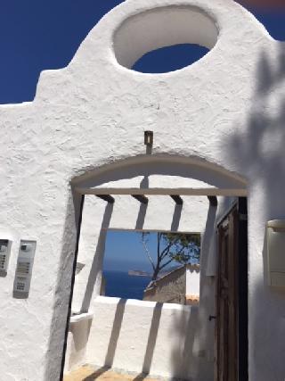 La Mola Maisonette-Wohnung (Haus) mit Meerblick & Sonnenuntergang, Blick bis zur Insel Dragonera